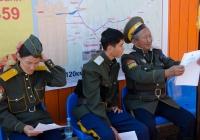 Церемония присяги казаков-буддистов