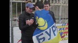Флаг Бурятии на первом месте в Волгограде на Мамаевом кургане!